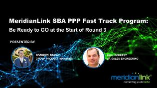 MeridianLink SBA PPP Fast Track Round 3