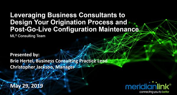 Webinar Leveraging Business Consultants to Design Your Origination Process
