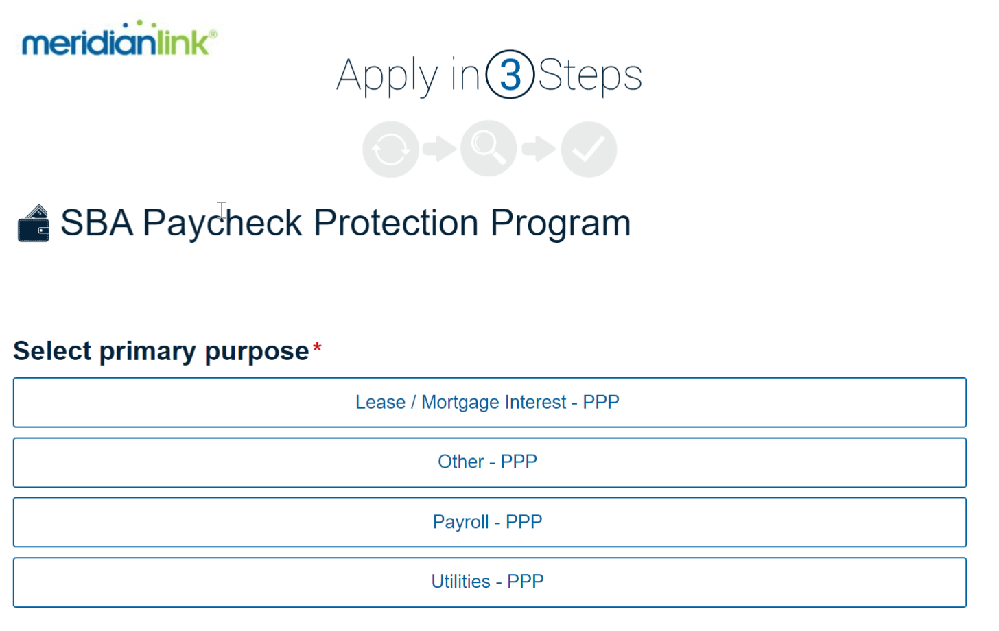 SBA PPP Fast Track Software Screenshot