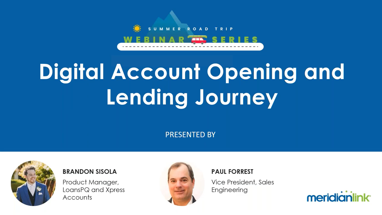 Digital Account Opening and Lending Journey [Webinar Recording]